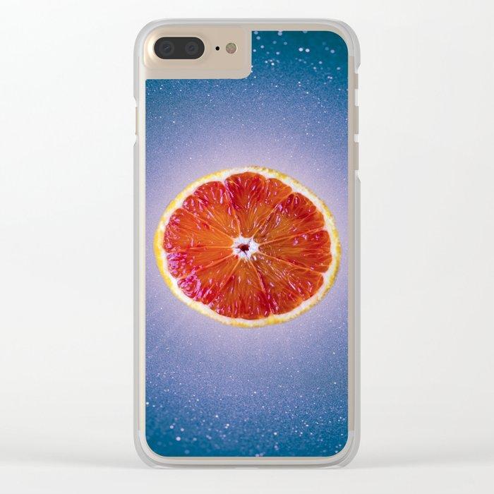 Orange sky 4 Clear iPhone Case
