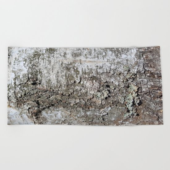 Tree Bark Beach Towel