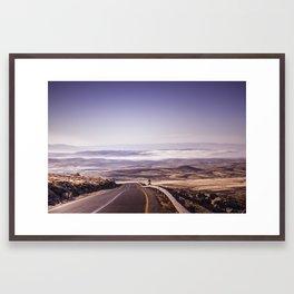 The Fog Beyond The Road Framed Art Print