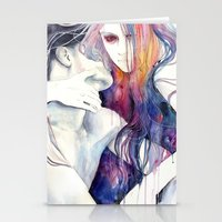 tumblr Stationery Cards featuring wakeful by agnes-cecile