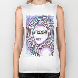 "Words Within: ""Strength"" Biker Tank"