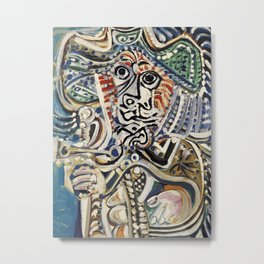 Pablo picasso musketeer with sword Metal Print