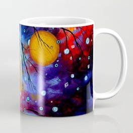"""Winter Sparkle"" Original Whimsical Contemporary Painting, Art by Megan Duncanson MADART Coffee Mug"