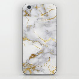 Italian gold marble iPhone Skin