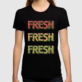 Fresh Watermelon, Cantaloupe Melon, Kiwi T-shirt