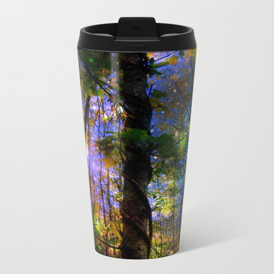 Forest of the Fairies Night Metal Travel Mug