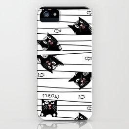 little kittens draw iPhone Case