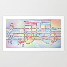 Music Notes Art Print