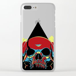 Illuminati Satan - Lucifer Clear iPhone Case