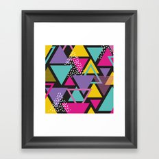 Back To The 80's Pattern Framed Art Print
