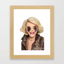JOAN RIVERS VISITS A PLASTIC SURGEON IN HELL Framed Art Print