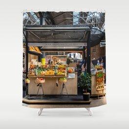 Fruit stall, Old Spitalfields Market in London Shower Curtain