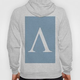 Greek letter lambda sign on placid blue background Hoody