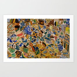 """Mosaik"" -barcelona  Art Print"