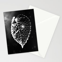 Space Leaf Stationery Cards