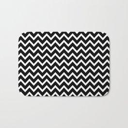 Zigzag (Black & White Pattern) Bath Mat
