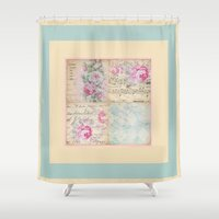shabby chic Shower Curtains featuring Shabby Chic No.2 by Artistic Home Decor