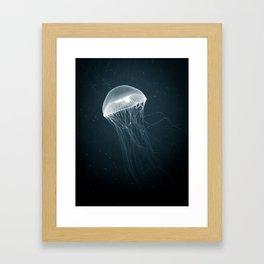 Jellyfish Glow Framed Art Print