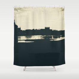 Silhouette des Dresdener Elbufers Shower Curtain