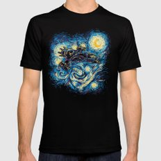 Starry Flight (Serenity) LARGE Black Mens Fitted Tee