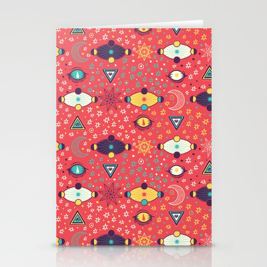 Cosmos Pattern Stationery Cards