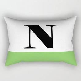 Monogram Letter N (color block) Rectangular Pillow