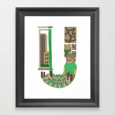 U as Urbaniste (Town planner) Framed Art Print