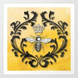 Damask Bee Art Print
