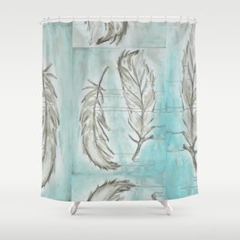 Feathers and memories Shower Curtain