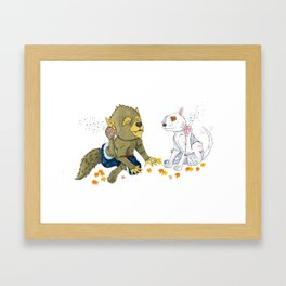 Scratch Framed Art Print
