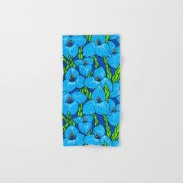 Blue Puya Flowers Botanical Floral Pattern Hand & Bath Towel