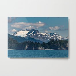 Kachemak Bay Mountains - Alaska Metal Print