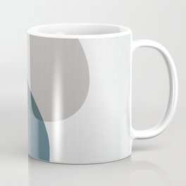 Mid Century Navy and Beige Abstract Art Print Coffee Mug
