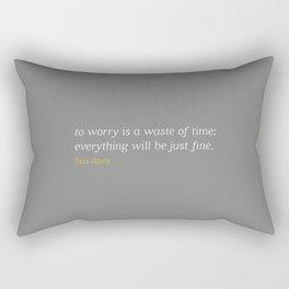 Bea Davis—Grey Rectangular Pillow
