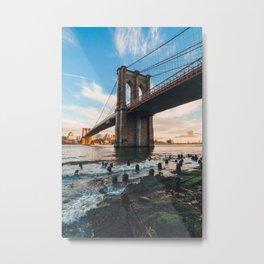 Late afternoon by Brooklyn Bridge Metal Print