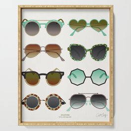 Sunglasses Collection – Mint & Tan Palette Serving Tray