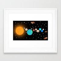 solar system Framed Art Prints featuring Solar System  by Gary Wood