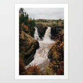 High Falls of the Pigeon River, Minnesota | Nature and Landscape Photography Art Print