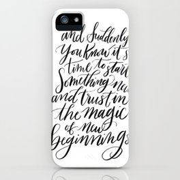 the Magic of New Beginnings iPhone Case