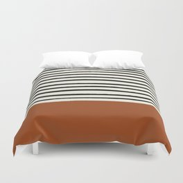 Burnt Orange x Stripes Duvet Cover