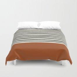 Burnt Orange x Stripes Duvet Cover