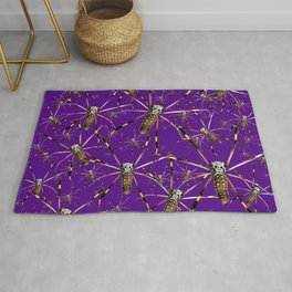 Watercolor Graphic 07, Spider Crawl, Golden Orb Weaver Royale Rug