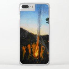 Summer Sabbath Clear iPhone Case