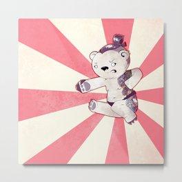 Sumo-Yakuza-Karate Bear Metal Print