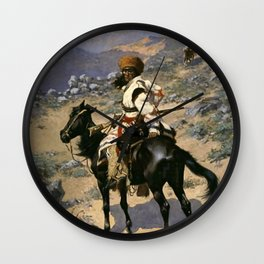 """Frederic Remington Western Art """"An Indian Trapper"""" Wall Clock"""