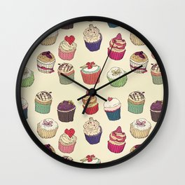 Margery's Lil Cupcake Shop Wall Clock