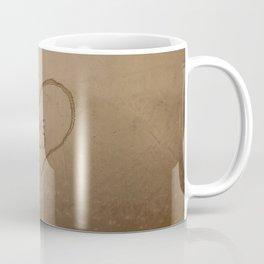 'Love you' text written on a sandy beach Coffee Mug