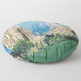 Logan Utah LDS Temple Painting Floor Pillow