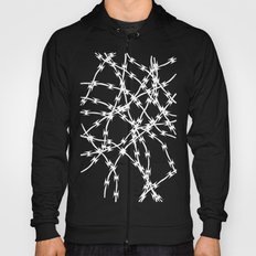 Trapped White on Black Hoody
