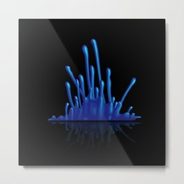 Splash of blue paint Metal Print
